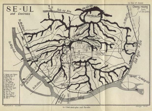 Mapa de Seúl y Alrededores 1912