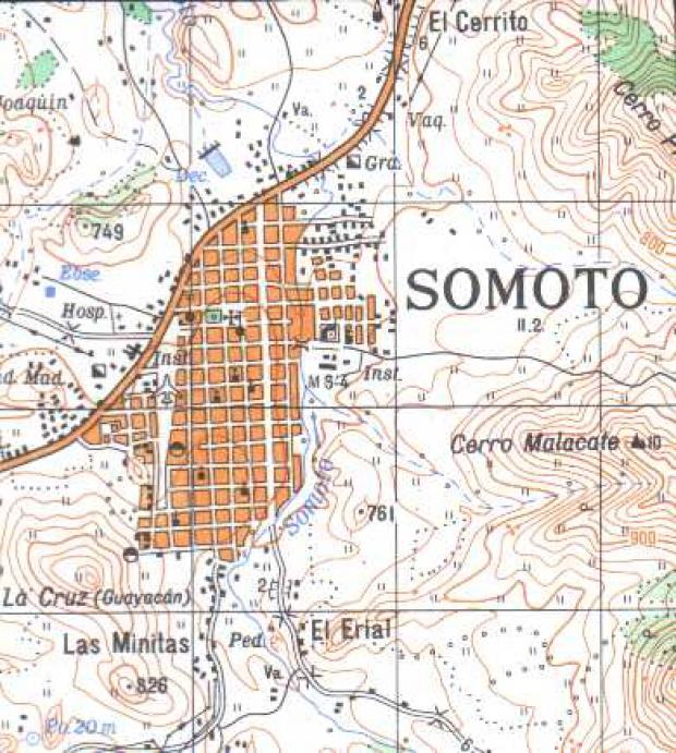Mapa de Somoto, Madriz, Nicaragua