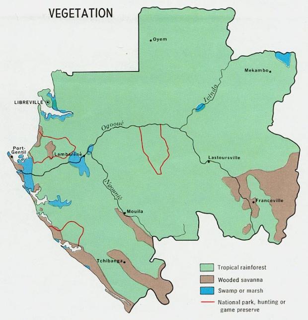 Mapa de Vegetación de Gabón
