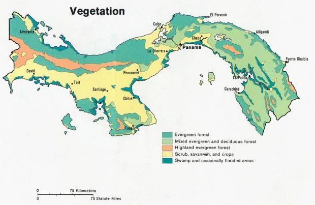 Mapa de Vegetación de Panamá