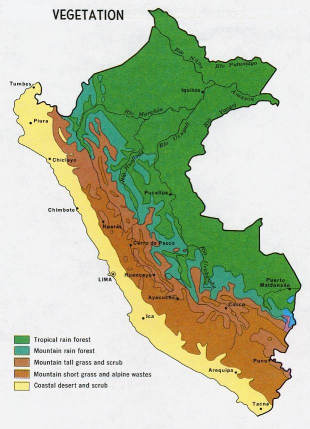Mapa de Vegetación de Perú