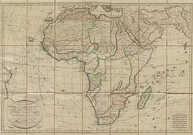 Mapa de África 1829