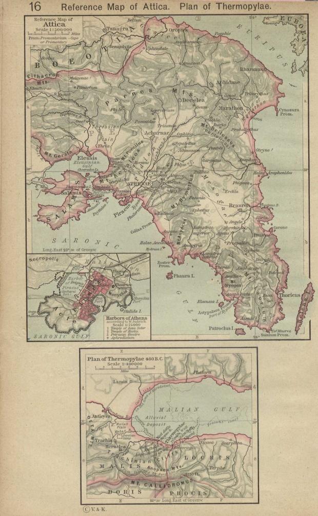 Mapa de Ática, Grecia 480 adC