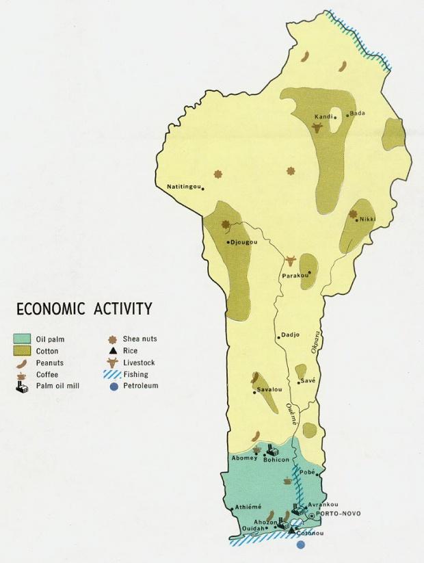 Mapa de la Actividad Económica de Benín