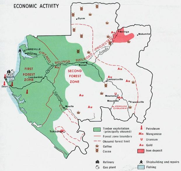 Mapa de la Actividad Económica de Gabón