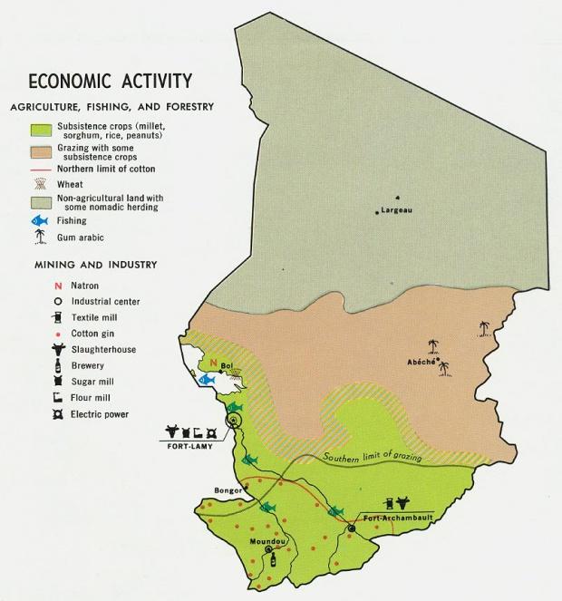 Mapa de la Actividad Económica del Chad