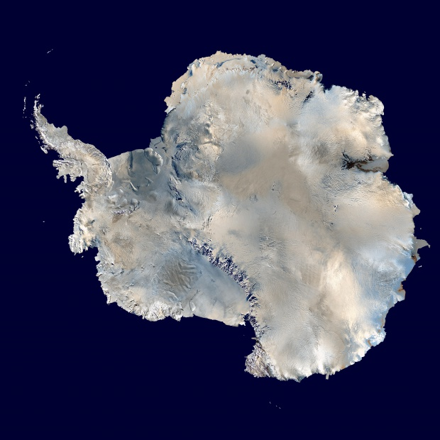 Mapa de la Antártida (satelital)