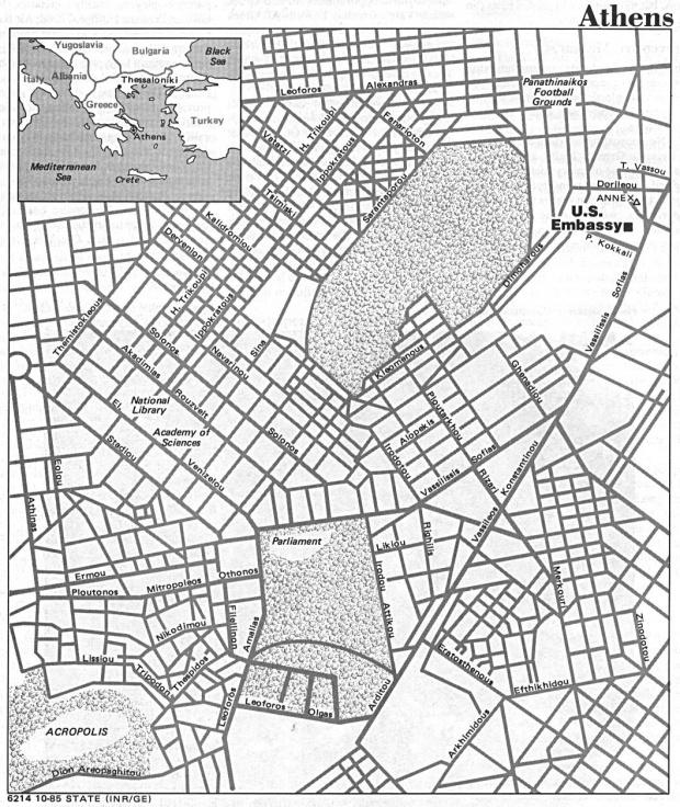 Mapa de la Ciudad de Atenas, Grecia