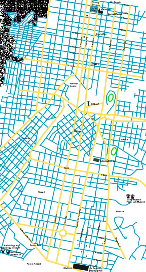 Mapa de la Ciudad de Guatemala
