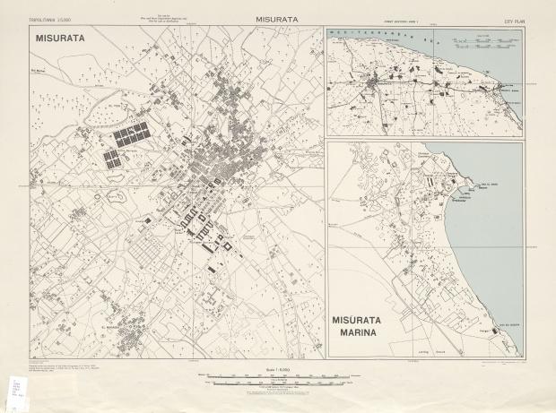 Mapa de la Ciudad de Misratah, Libia 1943
