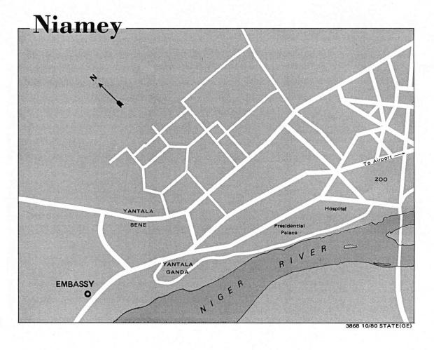 Mapa de la Ciudad de Niamey, Níger
