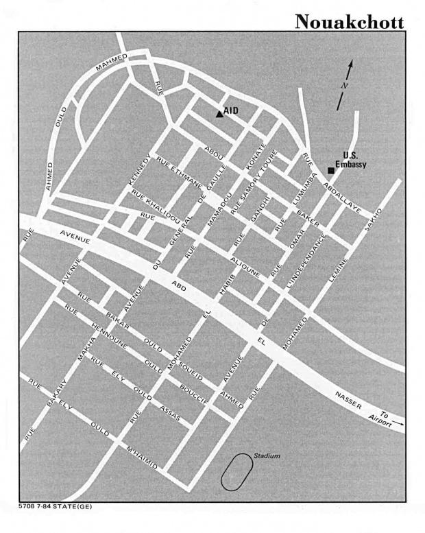 Mapa de la Ciudad de Nuakchott, Mauritania