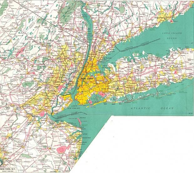Mapa de la Ciudad de Nueva York, Estados Unidos