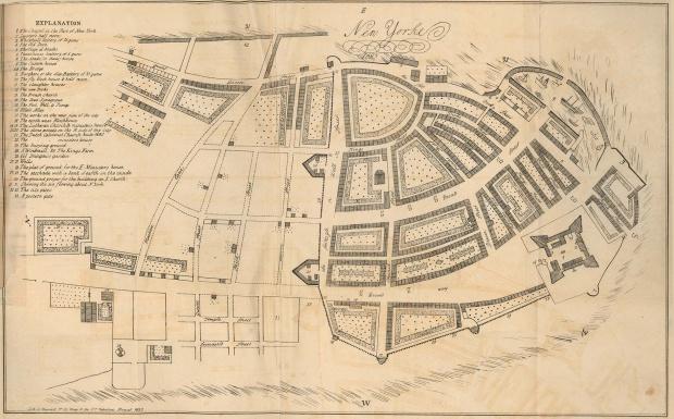 Mapa de la Ciudad de Nueva York, Nueva York, Estados Unidos 1695