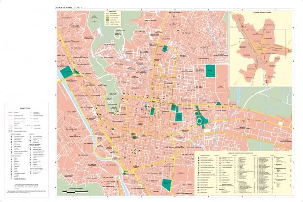 Mapa de la Ciudad de Oaxaca de Juárez, Oaxaca, Mexico