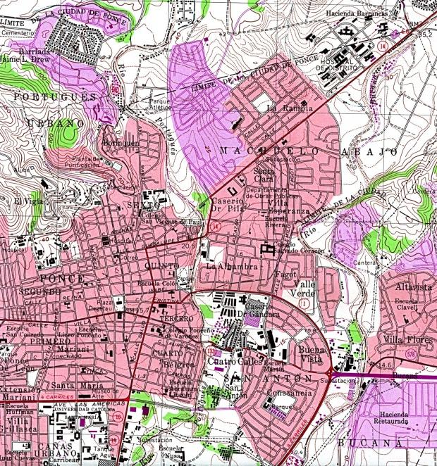 Mapa de la Ciudad de Ponce, Puerto Rico