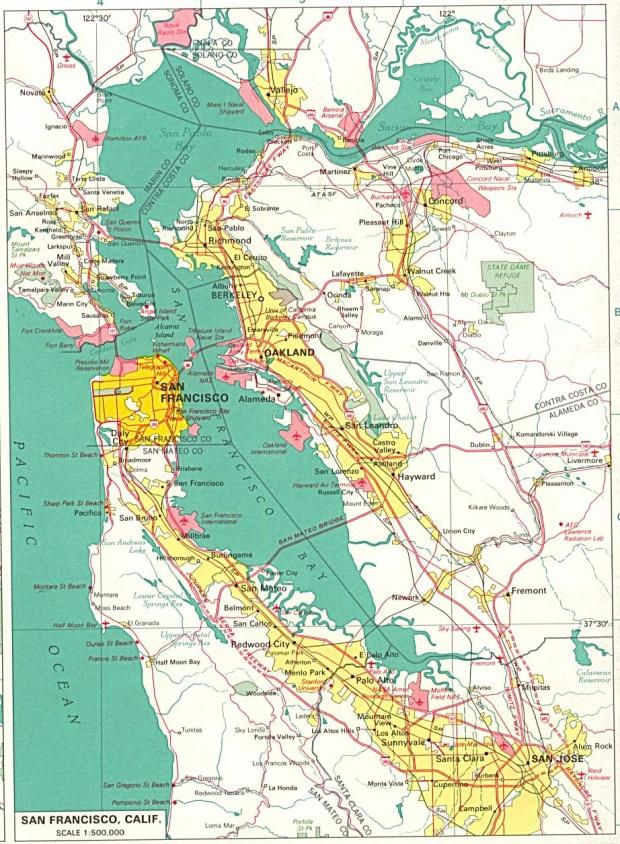 Mapa de la Ciudad de San Francisco, California, Estados Unidos
