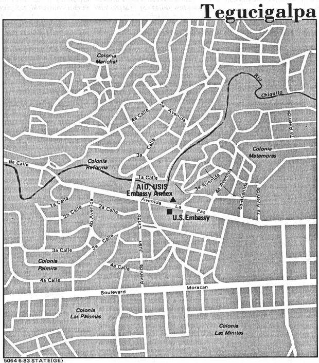 Mapa de la Ciudad de Tegucigalpa