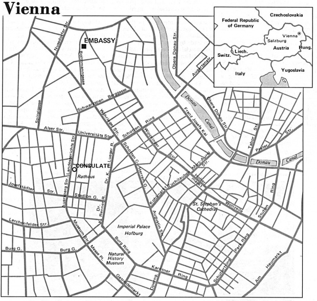 Mapa de la Ciudad de Viena, Austria