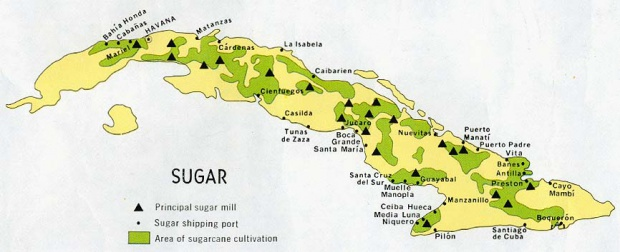 Mapa de la Industria Azucarera de Cuba