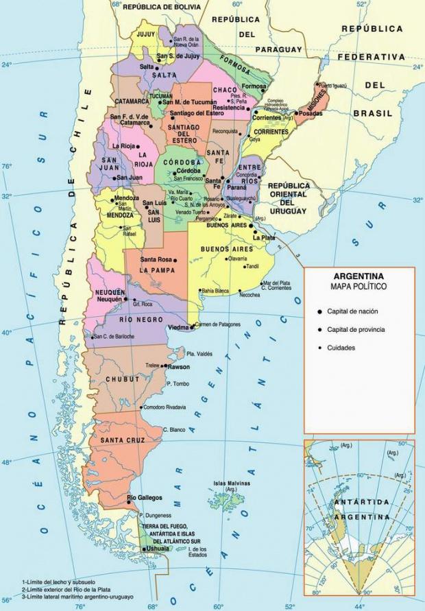 Mapa de la Provincias Argentina