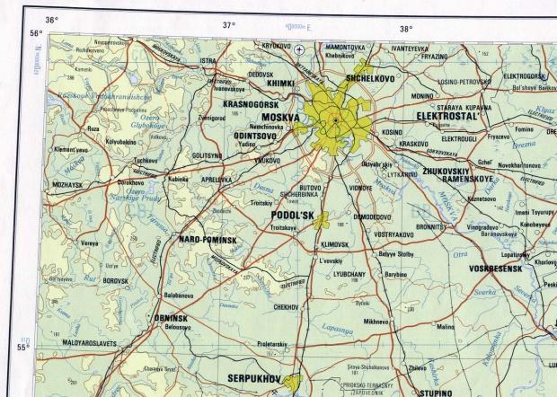 Mapa de la Región de Moscú