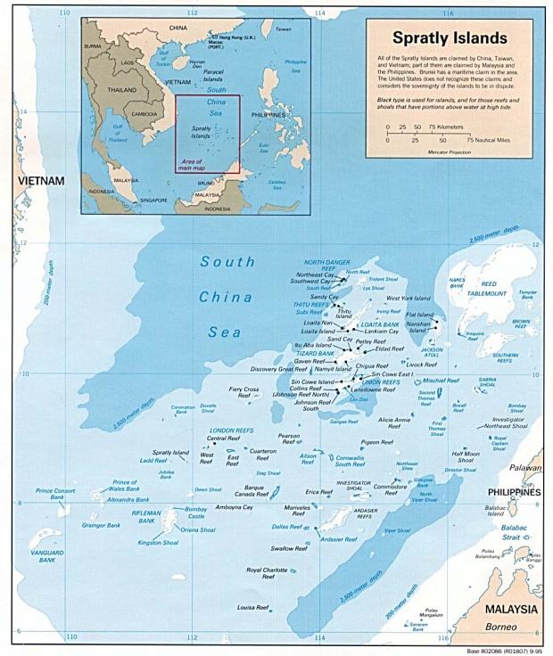 Mapa de las Islas Spratly