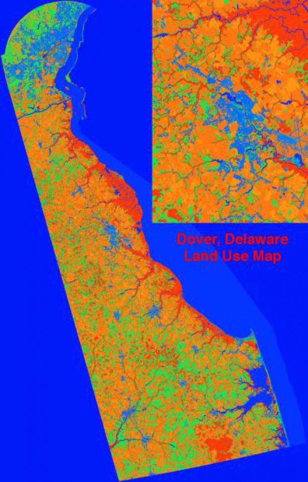 Mapa de uso del suelo de Delaware