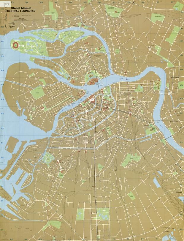 Mapa del Centro de San Petersburgo