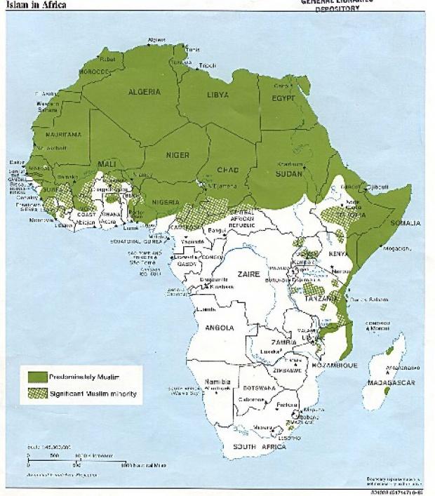 Mapa del Islam en África