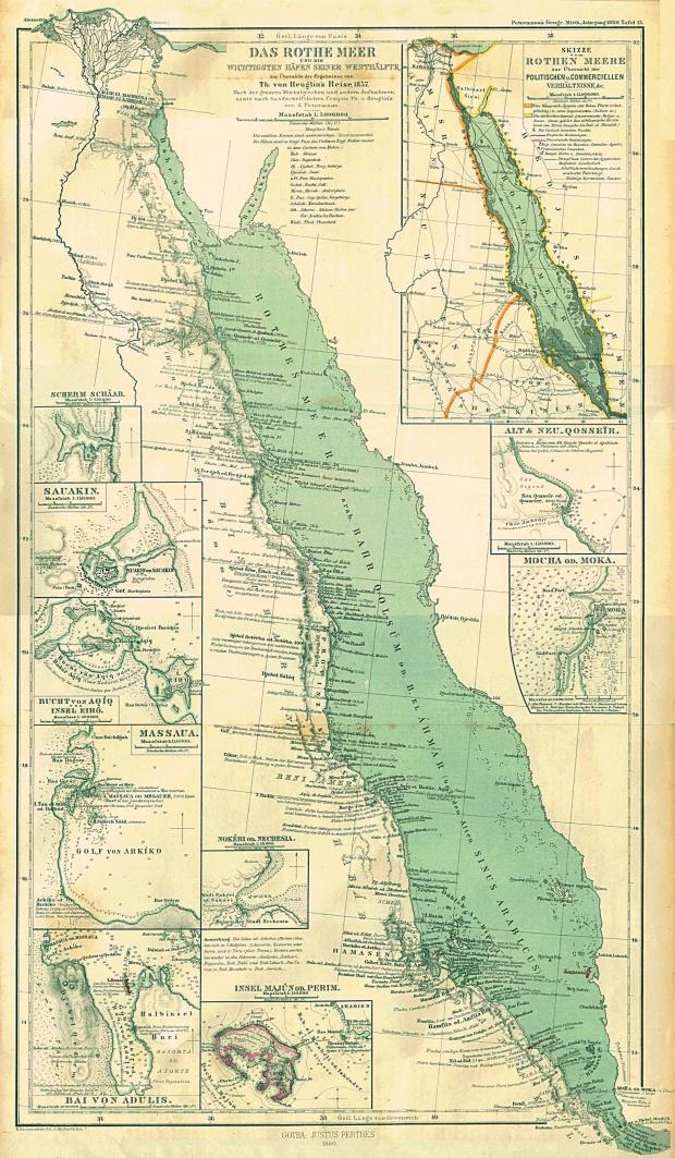Mapa del Mar Rojo 1860