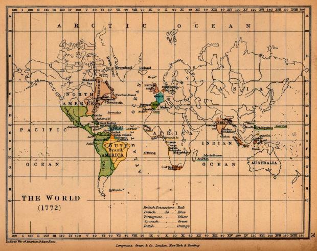 Mapa del Mundo 1772