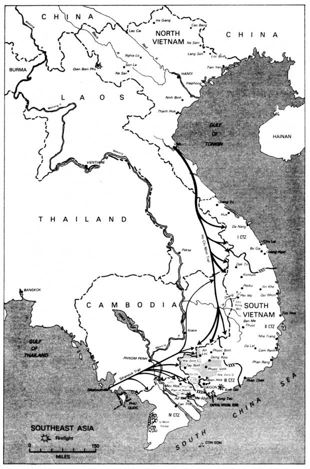 Mapa del Sureste Asiático 1967