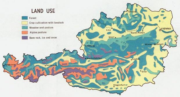 Mapa del Uso de la Tierra de Austria
