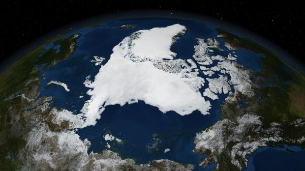 Mapa del Ártico (satelital)