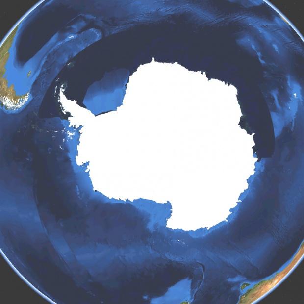 Mapa satelital de Antártida