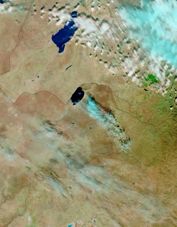 Mongolia Oriental (antes del fuego, falso color)