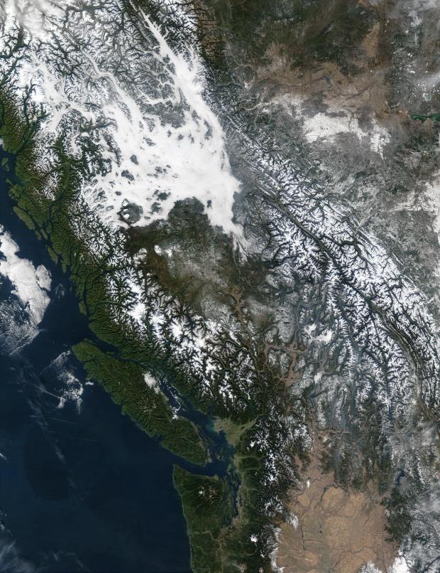 Niebla en Columbia Británica