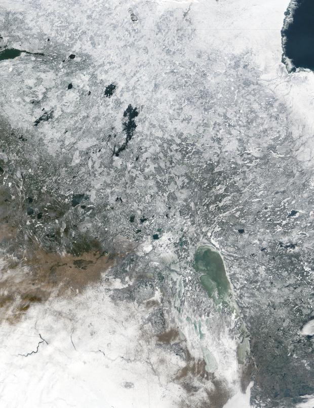 Nieve en Canadá Central