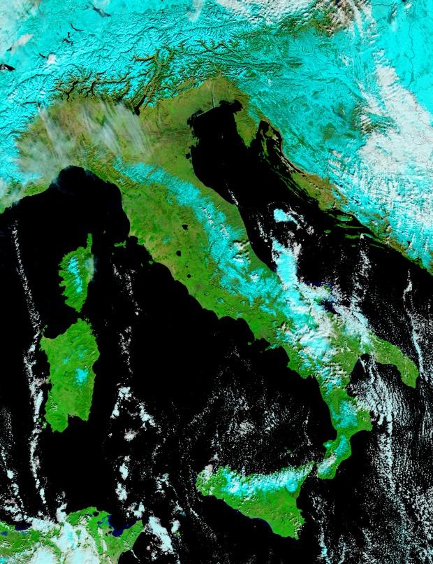 Nieve en Italia y Sicilia