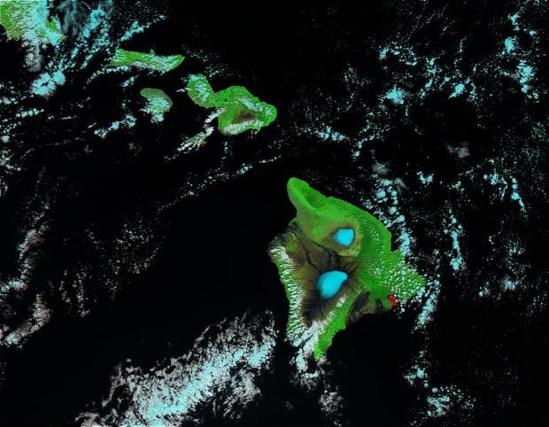 Nieve en el Mauna Kea y Mauna Loa, Hawái