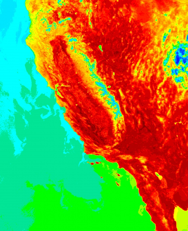 Ola de calor en California 2 de mayo de 2004