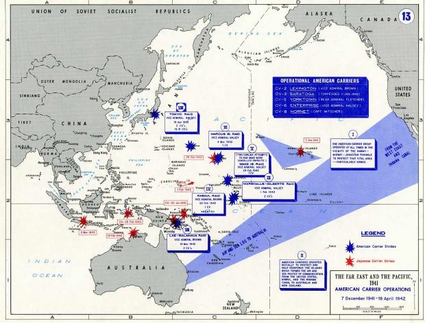Operaciones de portaaviones norteamericanos 1941-42