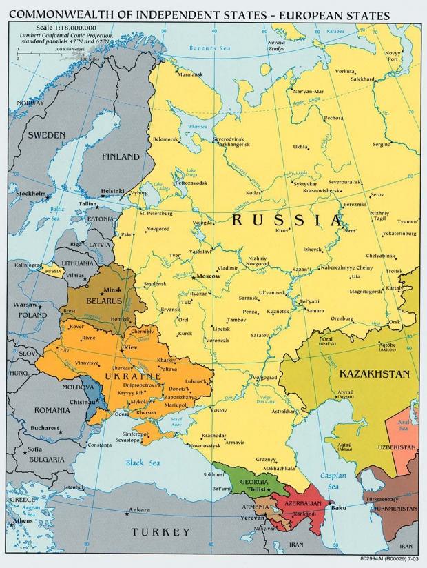 Países Europeos de la Comunidad de Estados Independientes 2003