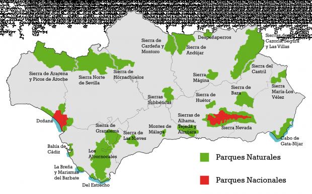 Parques naturales y nacionales de Andalucía 2010