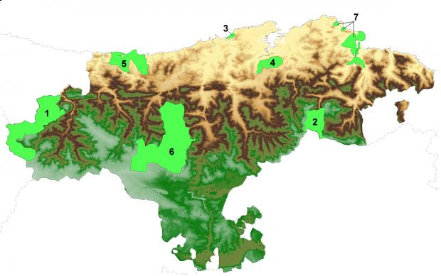 Parques naturales y nacionales en Cantabria 2007