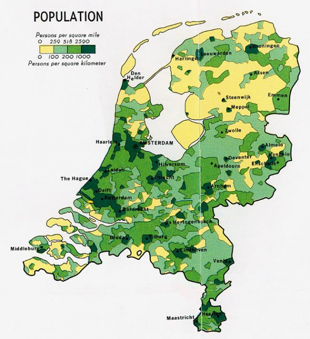 Población de los Países Bajos 1970