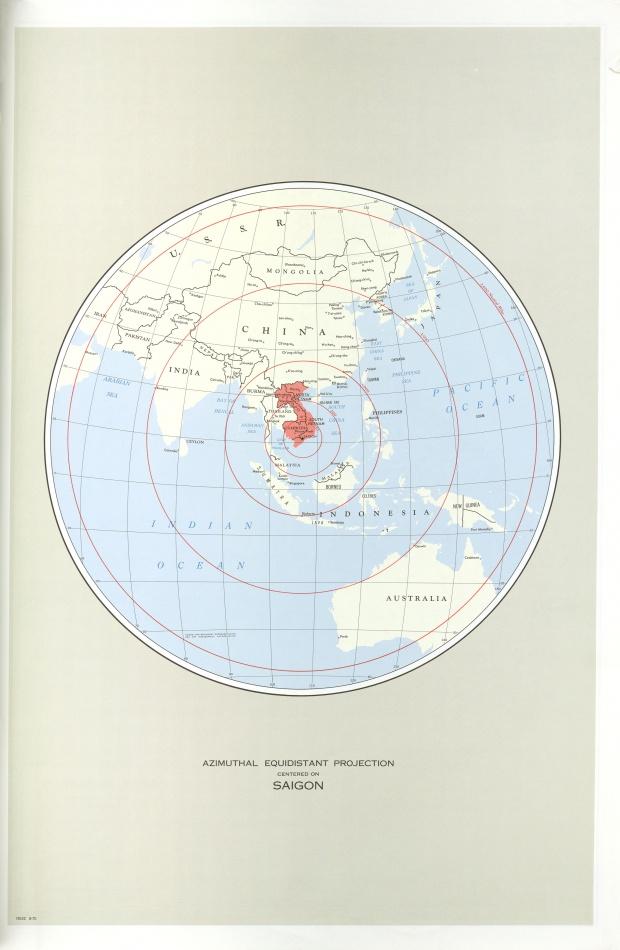 Proyección Azimutal Equidistante de Indochina