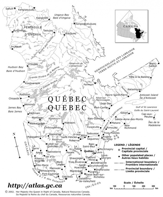 Quebec Political Map