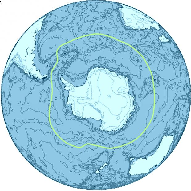 Región de la Antártida y sus límites 2009